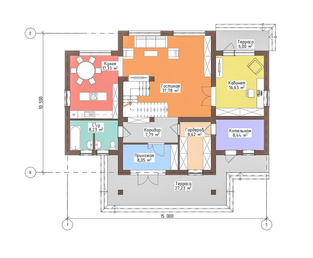 Дом — шале из газобетона 248 кв.м. Акведук
